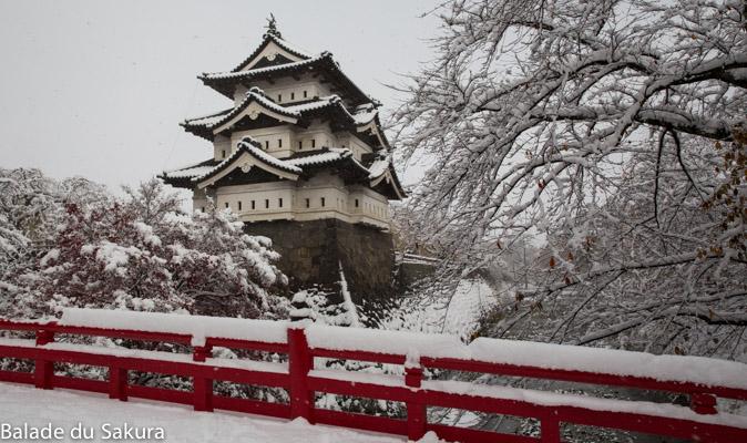 Un château sous la neige.