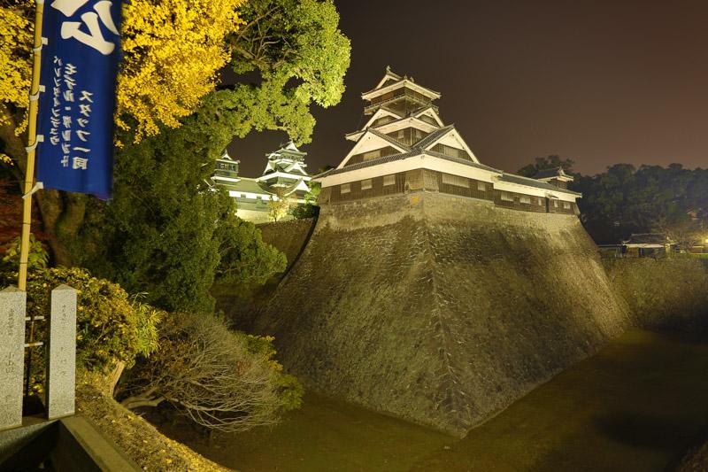La tour (Yagura) la plus ancienne du Japon au château de Kumamoto