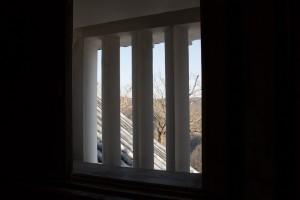 Depuis une des fenêtres du donjon