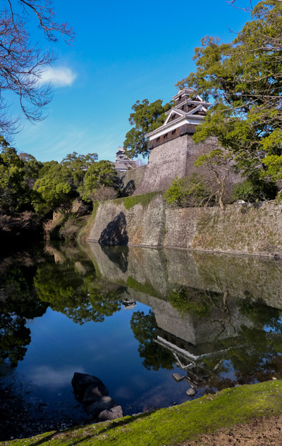 Chateaux_Japon_douves__kumamoto__yagura