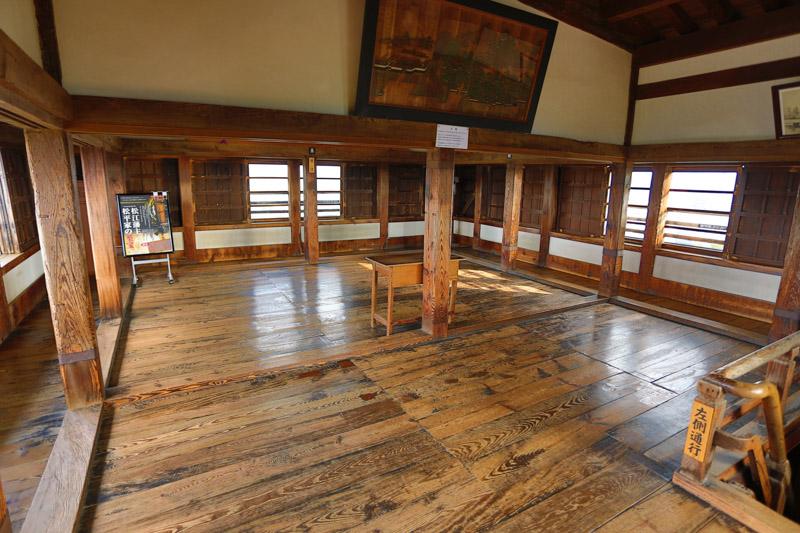 Dernière étage du donjon de Matsue