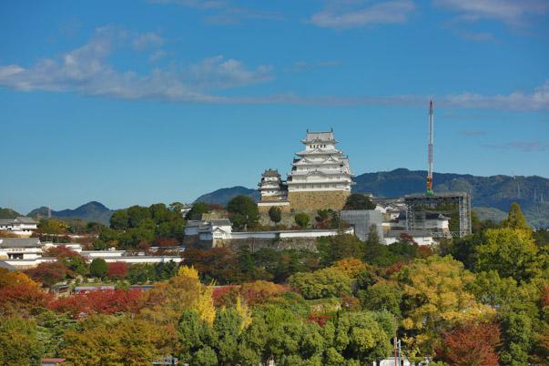 Le château d'Himeji après sa rénovation
